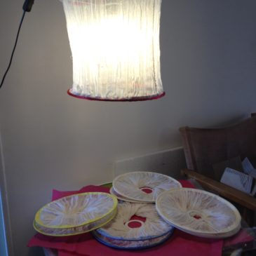 Lampshades with Ethiopian fabric…