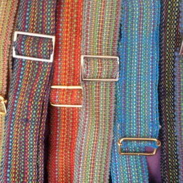 Hand-woven belts and ties…