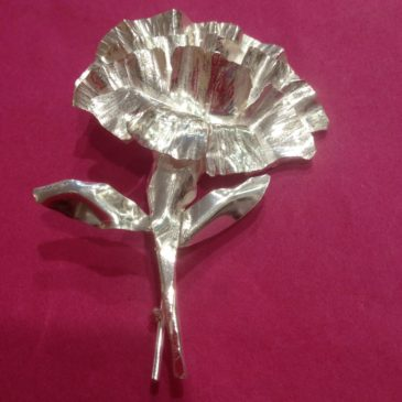 Sterling silver Carnations broach
