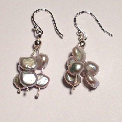ELER164 - Sterling silver earrings with freshwater pearls