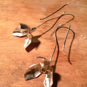 Snowdrops in January… Sterling silver earrings…