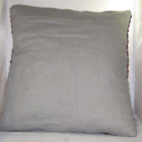 Reverse side, grey linen.