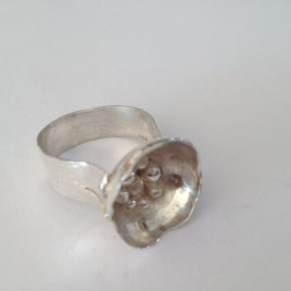 Ring – Sterling silver domed with silver balls