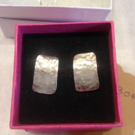 Earrings – Sterling silver hammered