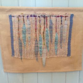 Wall Hangings – Handwoven textile mounted on linen fabric