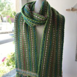 Handwoven  Scarf – Green