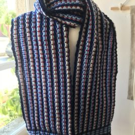 Handwoven Scarf – Navy blue