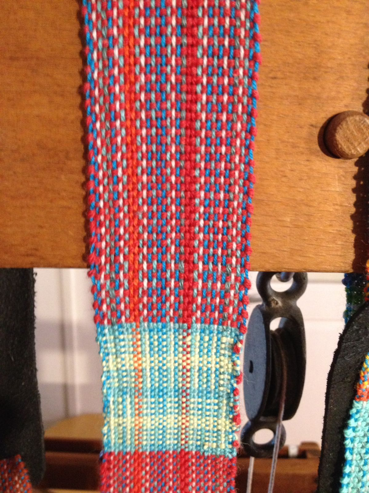 Detail of red strap