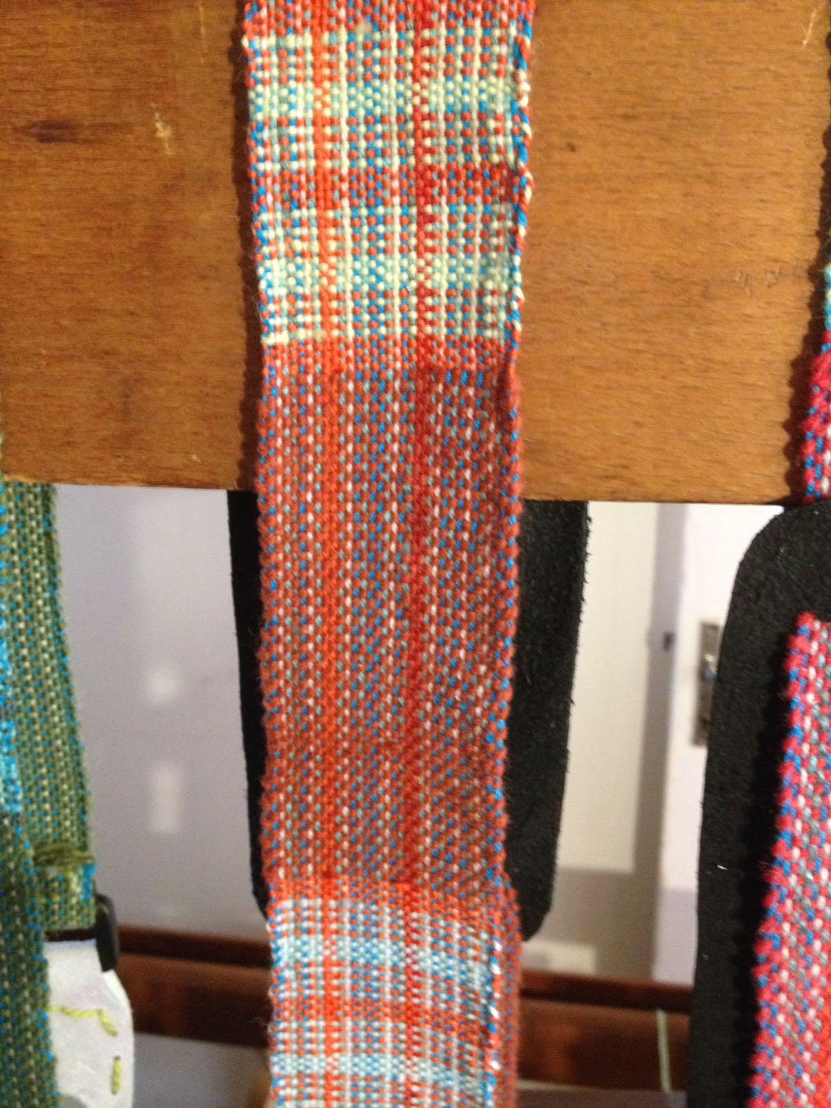 Detail of brown strap