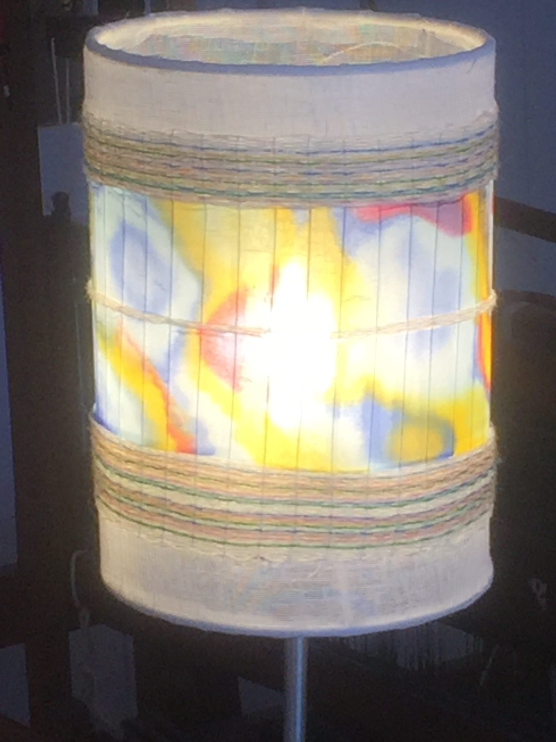 Lampshade with handpainted silk. 20€ (2 / 2)