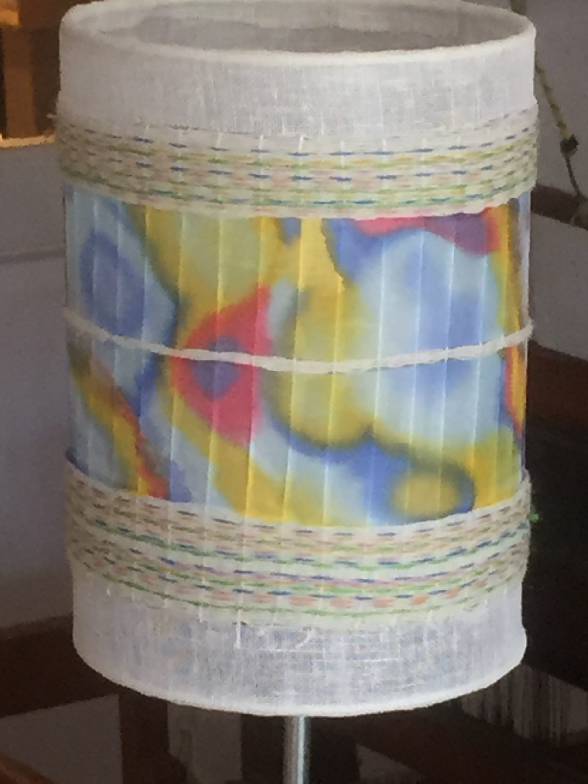 Lampshade with handpainted silk. 20€ (1 / 2)