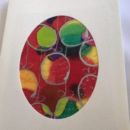 Silk Greeting Cards – Hand painted silk cards