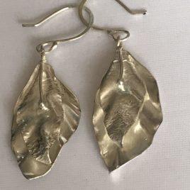 Earring – Sterling Silver leaves