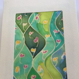 Silk Greeting Cards – Hand painted silk card