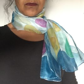 Silk scarf – Hand painted silk scarf