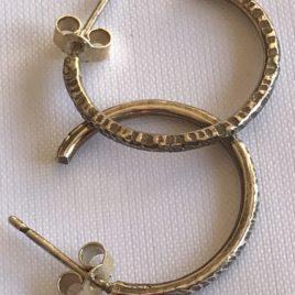 Earring – Sterling silver hoop earrings