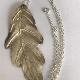 Pendant – Sterling Silver leaf pendant