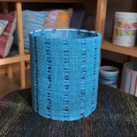 Lampshade – Handwoven fabric mounted on a frame