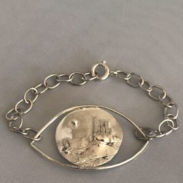 Bracelet – Sterling silver wire with Najac fortress motif