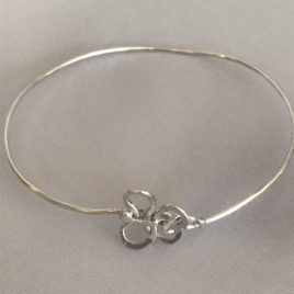 Bracelet – Sterling silver wire with butterfly