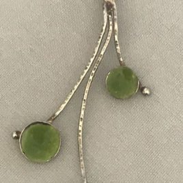 Pendant – Sterling Silver with three enamelled domes