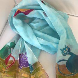 Silk Scarf – Hand painted silk scarf