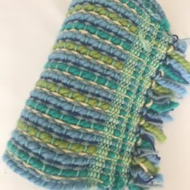 Handwoven Scarf – Blue and Green