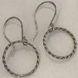 Earring – Sterling silver twisted wire circle