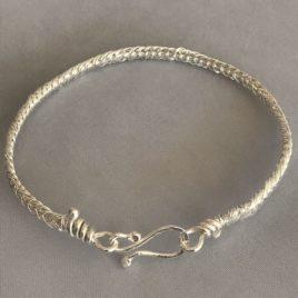 Bracelet – Sterling silver braided wire