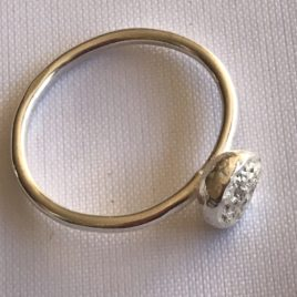 Ring – Sterling silver wire ring with large silver ball