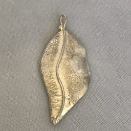 Pendant – Sterling Silver reticulated leaf