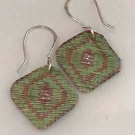 Earring – Sterling silver with textile