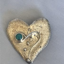 Pendant – Sterling Silver reticulated heart