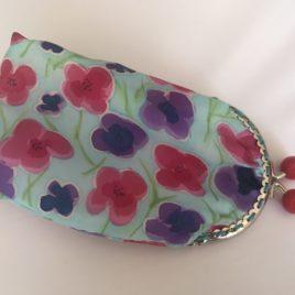Silk Scarf – Hand painted silk purse