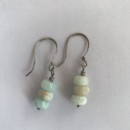 Earring – Sterling silver with amazonite beads