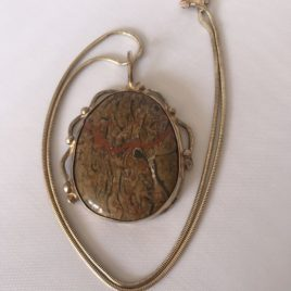 Pendant – Sterling Silver pendant with oval jasper