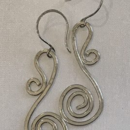 Earring – Sterling silver spiral wire