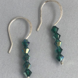 Earring – Sterling silver with Swarovski crystals